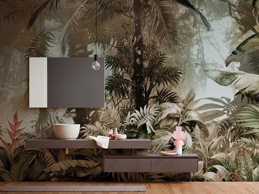 Inkiostro Bianco |Bathroom wallpaper |блог senko architects| Обои в  современном интерьере: клеить или не клеить? | обои ванная комната | обои дизайн интерьера | дизайнер интерьера украина киев