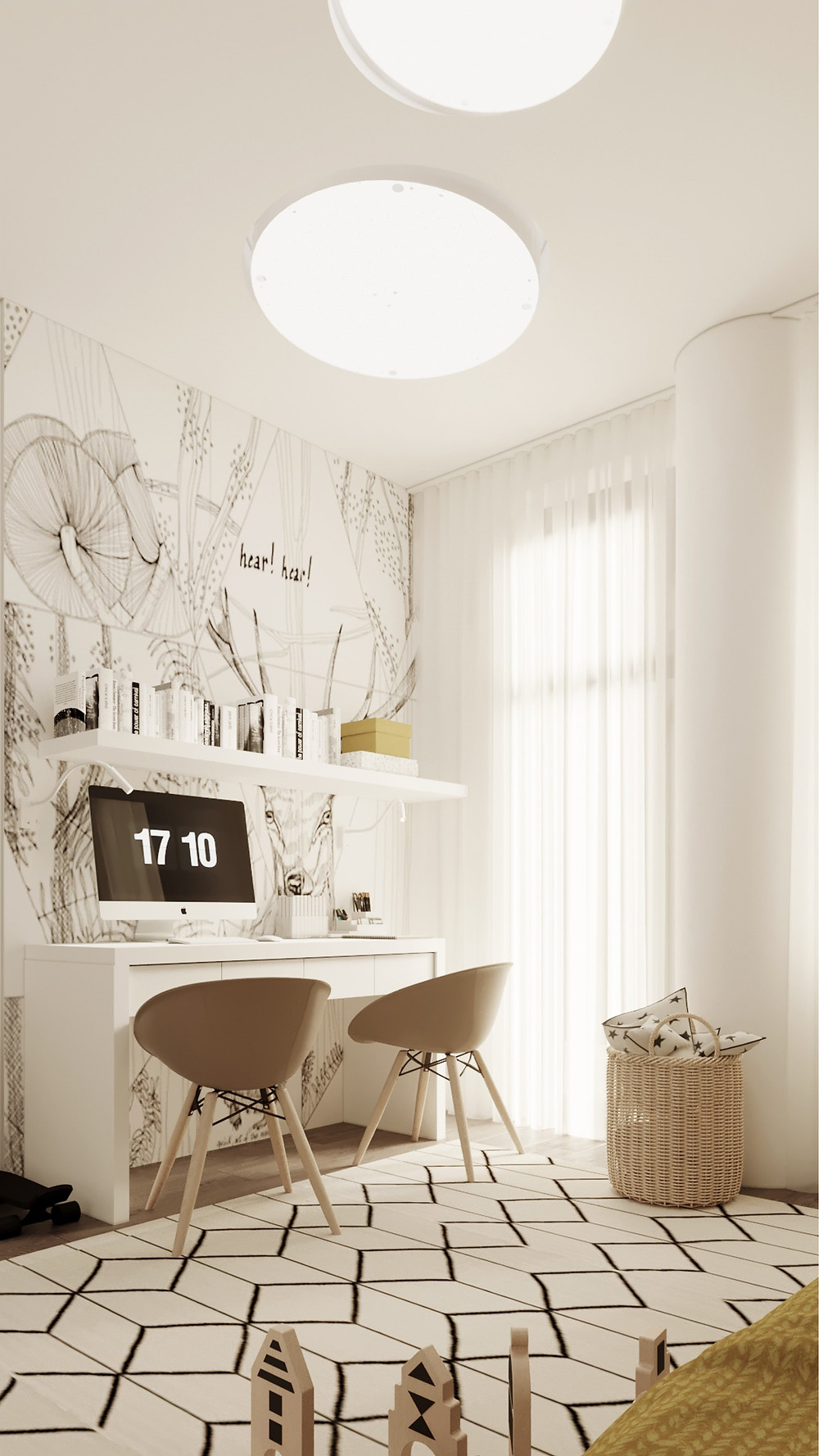 Wall&Deco| Interior kidsroom SENKO architects |Bedroom wallpaper |блог senko architects | Обои в  современном интерьере: клеить или не клеить? | обои в детской | обои дизайн интерьера | дизайнер интерьера украина киев