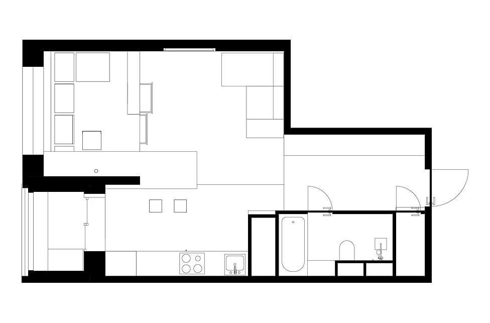 Ruetemple | ТОП 10  дизайн проектов квартир студий | блог SENKO architects | квартира студия | дизайн интерьера квартиры студии | смарт квартира интерьер | небольшая квартира дизайн | дизайн интерьера |минимализм | архитектурное бюро киев