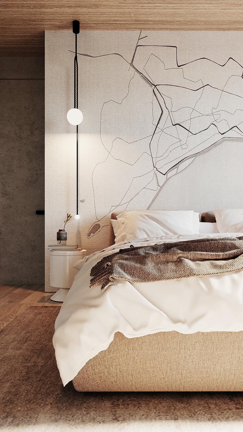 Glamora| Interior bedroom SENKO architects |Bedroom wallpaper |блог senko architects | Обои в  современном интерьере: клеить или не клеить? | обои в спальне | обои дизайн интерьера | дизайнер интерьера украина киев
