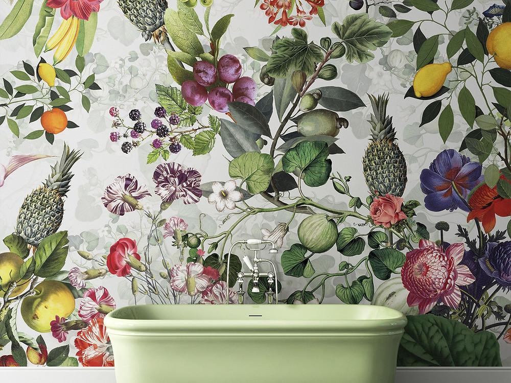 Devon&Devon| Bathroom wallpaper |блог senko architects| Обои в  современном интерьере: клеить или не клеить? | обои ванная комната | обои дизайн интерьера | дизайнер интерьера украина киев