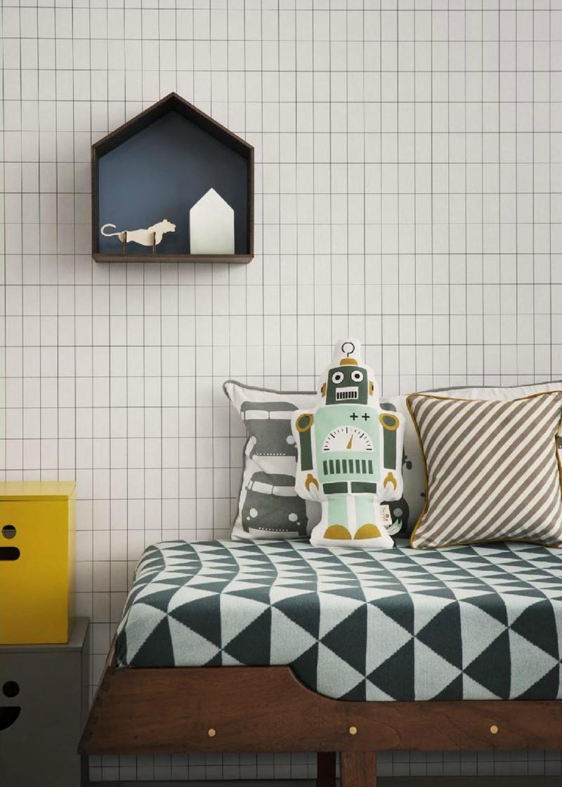 Ferm living| kidsroom wallpaper |блог senko architects | Обои в  современном интерьере: клеить или не клеить? | обои в детской | обои дизайн интерьера | дизайнер интерьера украина киев