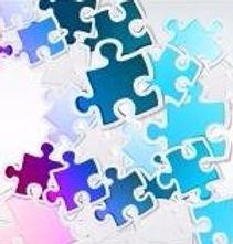 pastel puzzle pieces