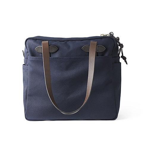 Filson Rugged Twill Tote Bag w. Zipper | Navy