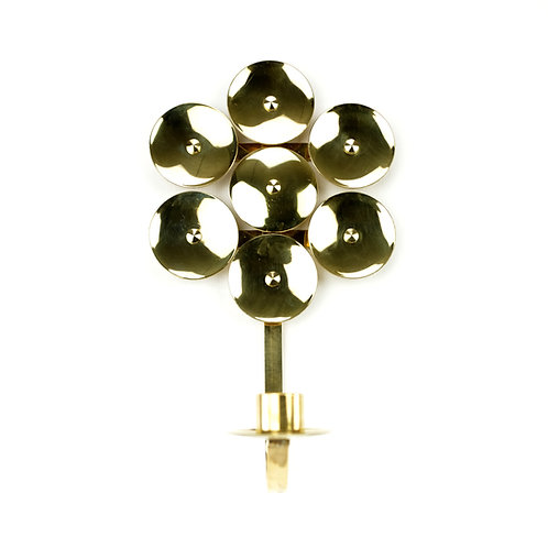 Mid Century Swedish Brass Candle Holder by Mora KEE