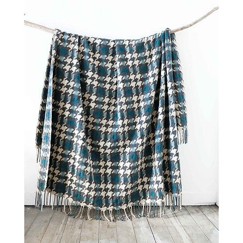 Extra Large Pied-de-Coq Wool Blanket