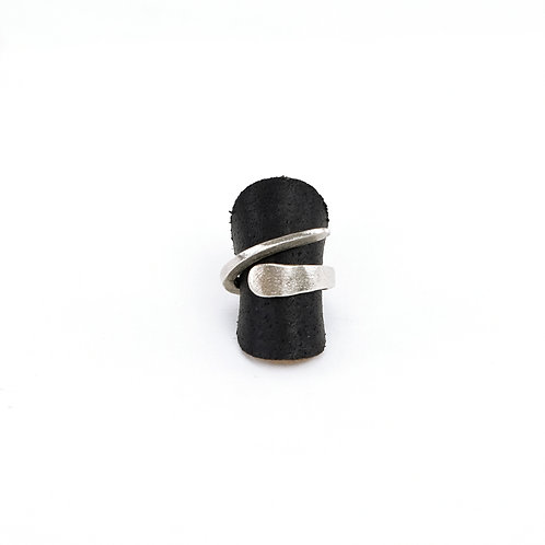 Raw Handcrafted Silver Ring
