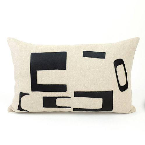 'Rectangular Talking Heads' Cushion