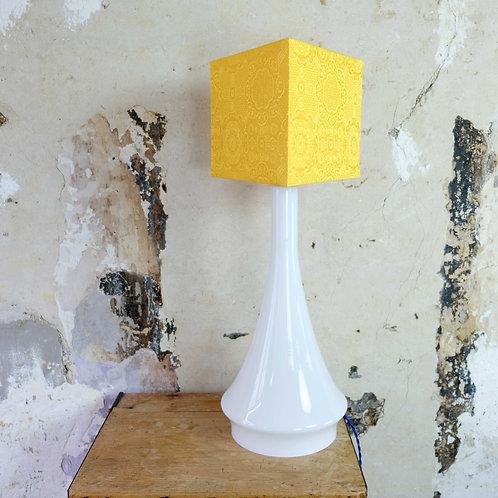 Tall glass lamp