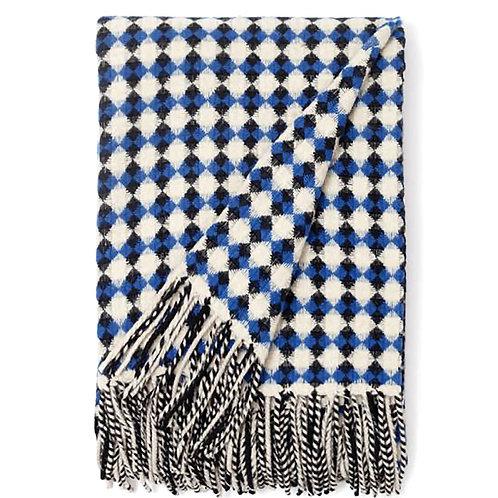 Bicolor Azulejo Wool Blanket