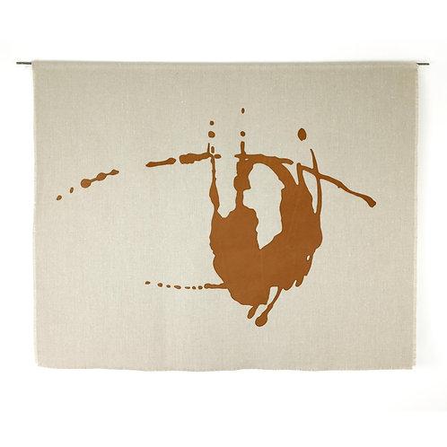 Gaze | Belgian Linen with Leather Appliqué