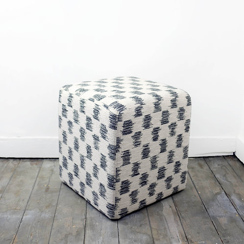 Linen Fabric Pouf in Larsen Fabric
