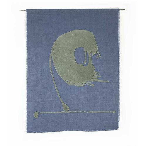 Blue Tailwind | Belgian Linen with Leather Appliqué
