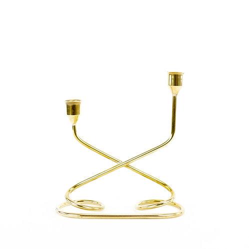 Danish Brass Candleholder