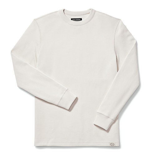 Filson   Waffle Knit Thermal Crew Neck   Sand