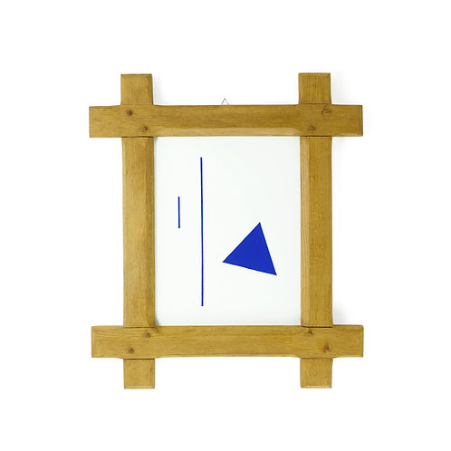 One short, one Long and a Triangle | Solid Oak Frame