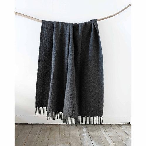 Plain Pied-de-Coq Wool Blanket