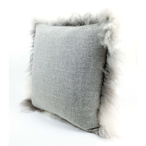 Large Harry cushion / Floor cushion in Wool and Icelandic Sheepskin | 65cmx62cm