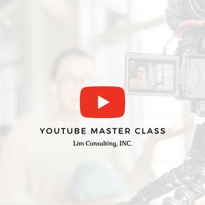 【3日間でプロクリエイターに】YouTube Master Class開講決定!!