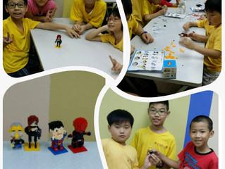 今日考考同學們,比賽分組砌小模型,還要高年級哥哥姐姐帶領不同年紀小朋友發揮合作精神,大家完成後多滿足!