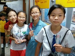 三位同學,升中學啦,要加油呀! 你們過去努力,一個獎杯,不算得什麼,但希望同學們能銘記自己努力及堅持!你們承諾了會用心加油呀!