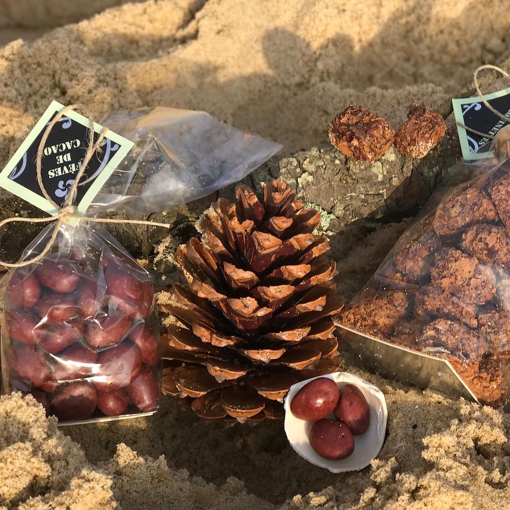 Fèves de Cacao and praliné Craquinettes