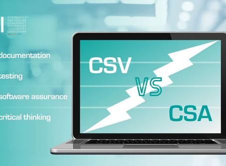 Computer Software Assurance (CSA): the new CSV?