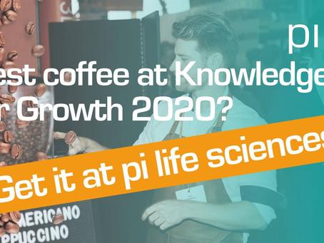 Your wake up latté at KFG2020? Get it at pi life sciences.