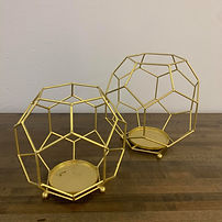 Gold Hollow Geometric Vases