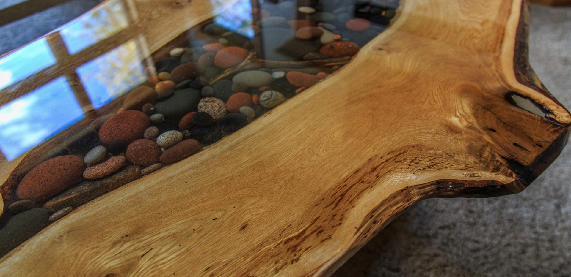 Lake Superior Agate & Walnut table