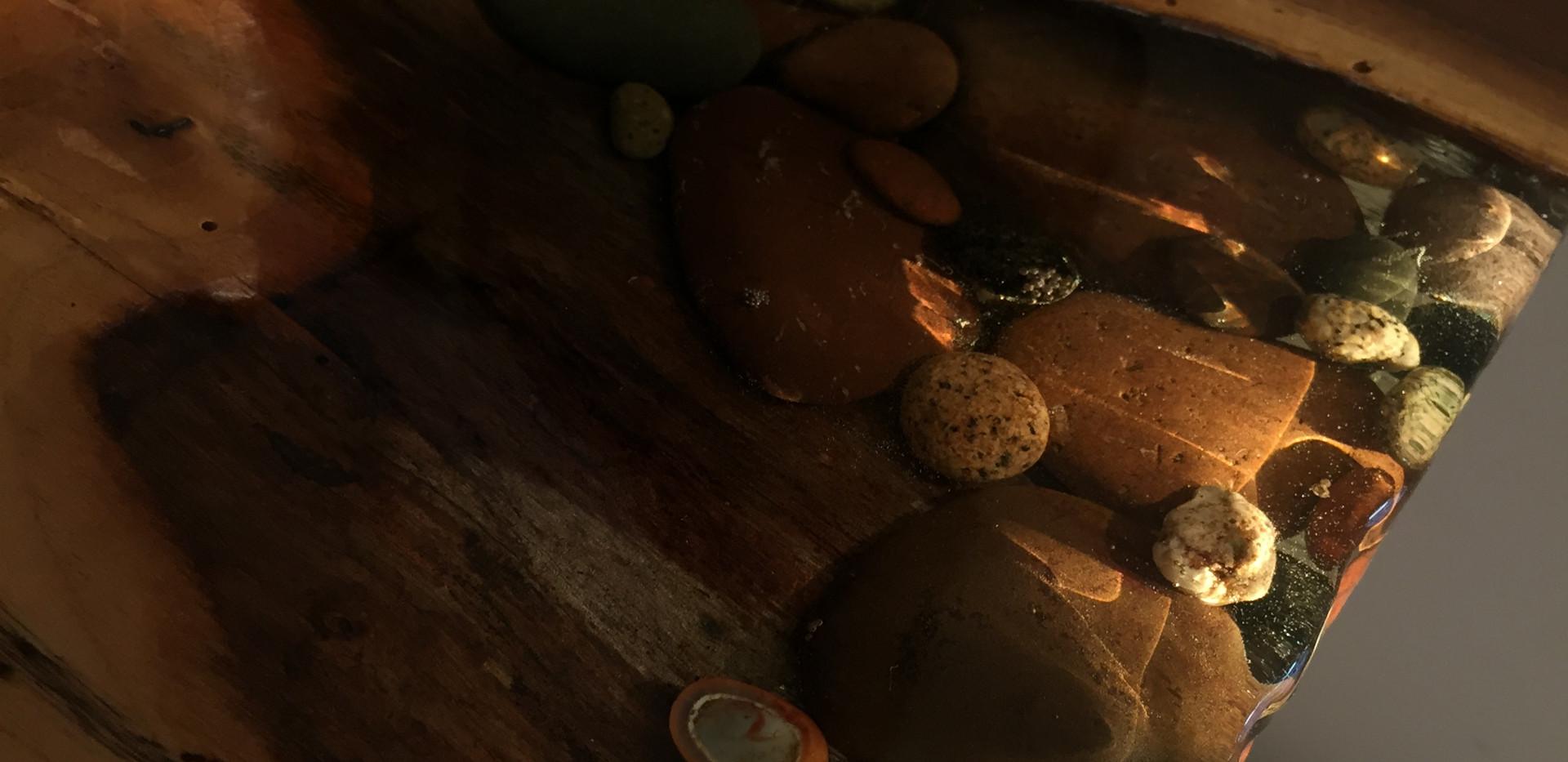 Edge Detail // Lake Superior Agate & Walnut table