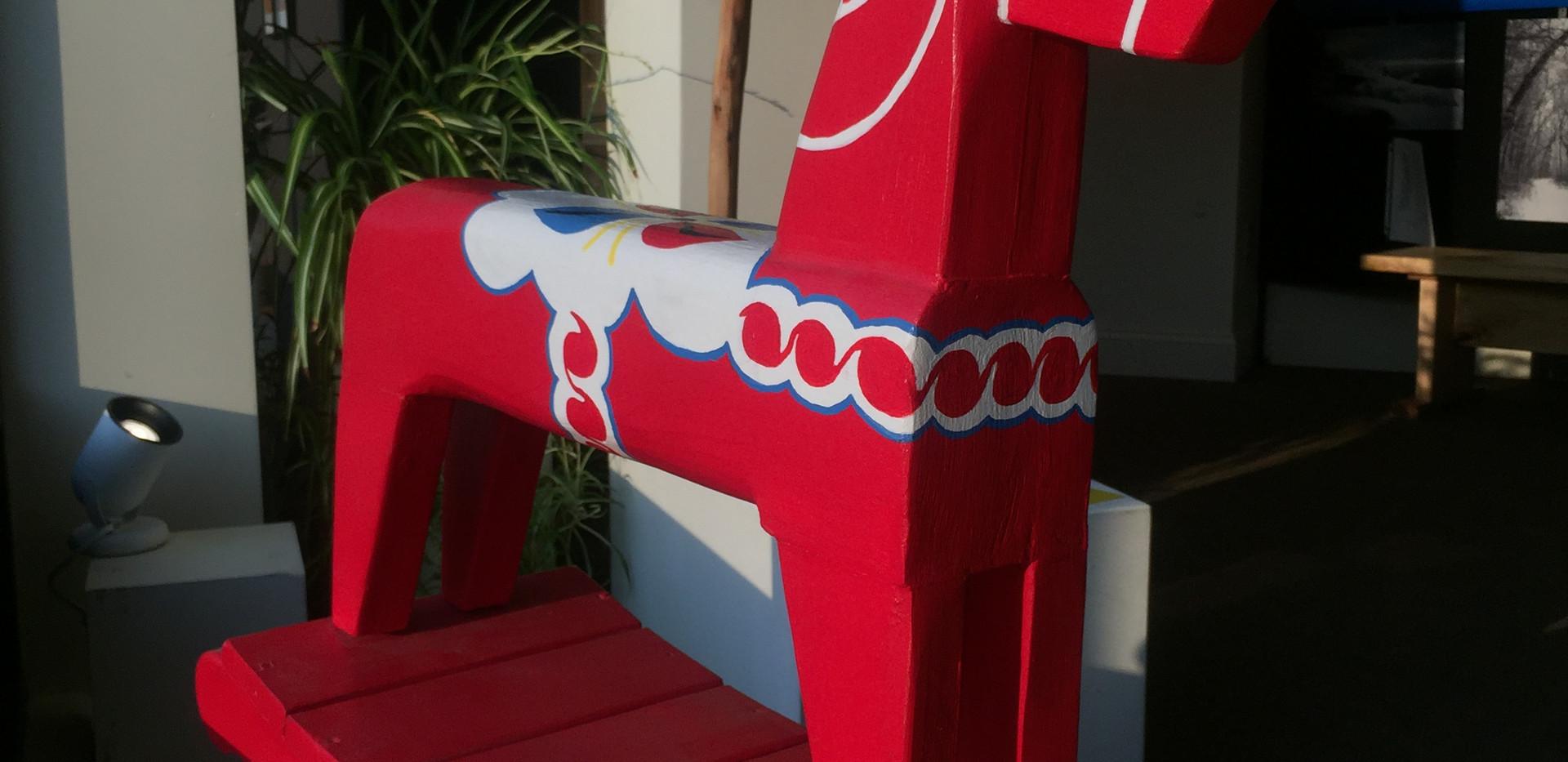 Red Dala Rocking Horse