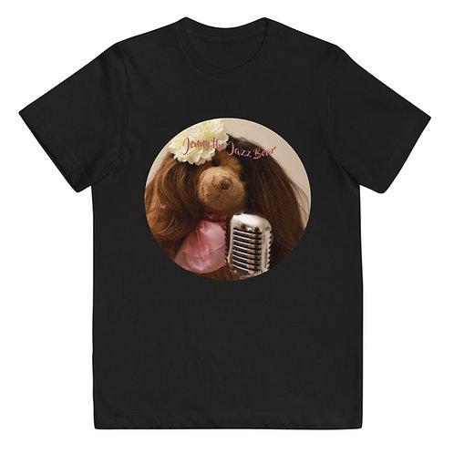 Jenny the Jazz Bear -- Youth jersey t-shirt