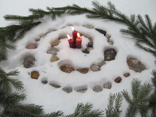 yule solstice spiral
