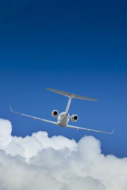 Image jet flying