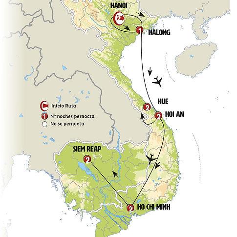 Vietnam y Camboya
