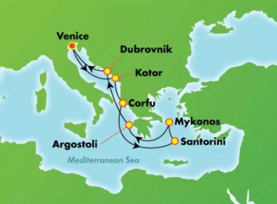 Italia, Croacia, Eslovenia, Montenegro, Grecia