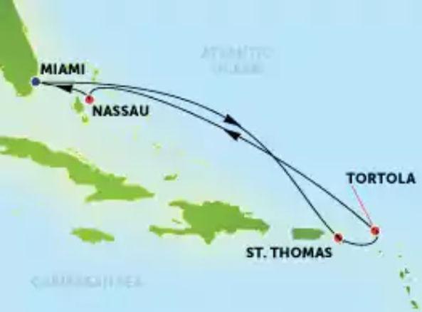 Estados Unidos, Islas Vírgenes EEUU y Británicas, Bahamas