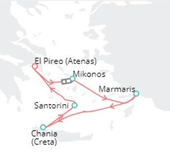 Atenas, Mykonos, Marmaris, Chania, Santorini
