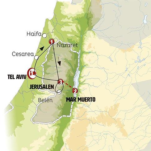Tel Aviv, Haifa, Cesárea, Nazaret, Jerusalem, Mar Muerto