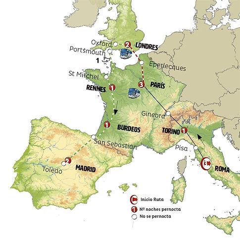 Roma, París y Londres