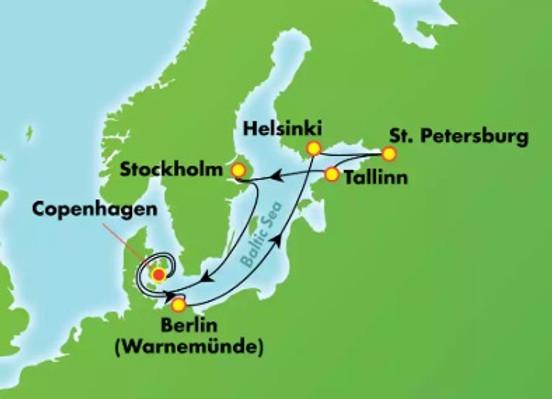 Dinamarca, Alemania, Estonia, Rusia, Finlandia y Suecia