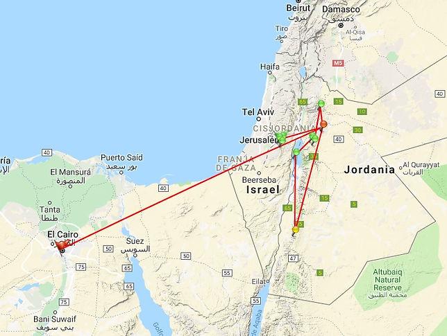 Jerusalem, Belén, Amman, Petra, El Cairo