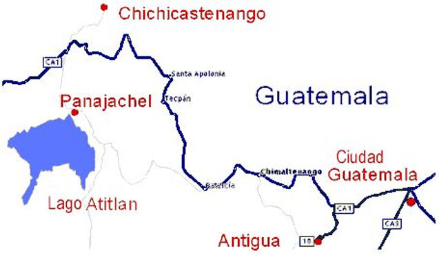 Guatemala, Antigua, Panajachel, Lago Atitlán, Chichicastenango