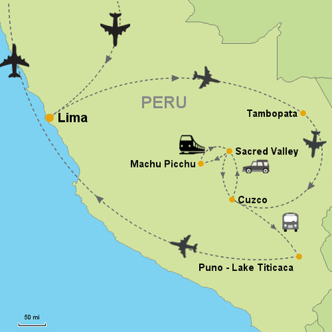 Lima, Cusco, Puno