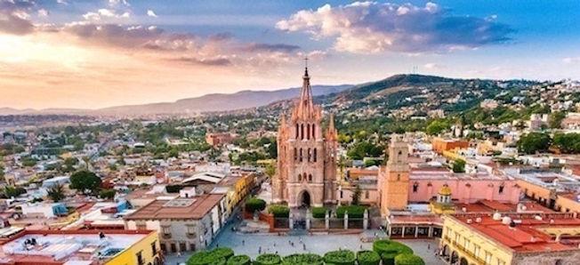 Ciudad de México, Guanajuato, Guadalajara, Morelia, Querétaro y San Miguel Allende