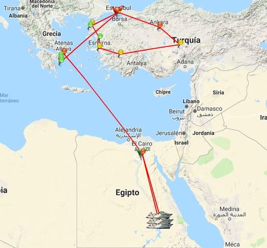 El Cairo, río Nilo, Luxor, Aswan, Atenas, Estambul, Troya, Pamukale, Capadocia, Ankara y más