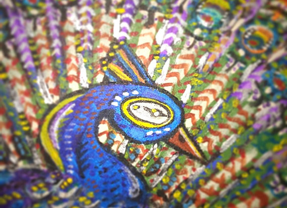 """Peacock"" 16X12inch A reminder of the beauty that can be found at home."