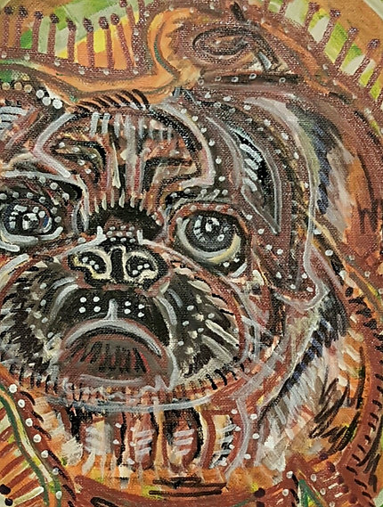 """Pug."" 12X9in. Just a wish to have a home with pets. Everybody needs a"