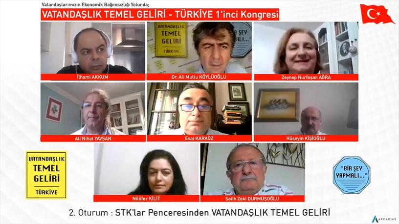 VATANDAŞLIK TEMEL GELİRİ - TÜRKİYE 1'inci Kongresi - 16 Mayıs 2020 - 2. Oturum - STK'lar Penceresinden VTG